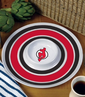 New Jersey Devils Plastic Chip and Dip Plate
