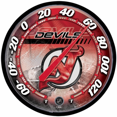 New Jersey Devils Round Wall Thermometer