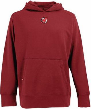 New Jersey Devils Mens Signature Hooded Sweatshirt (Color: Red)