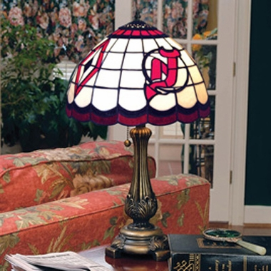 New Jersey Devils Stained Glass Table Lamp