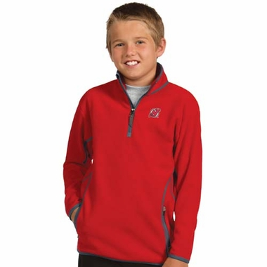 New Jersey Devils YOUTH Unisex Ice Polar Fleece Pullover (Color: Red)
