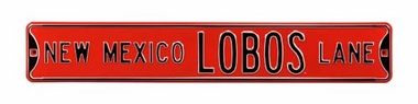 New Mexico Lobos Lane Street Sign
