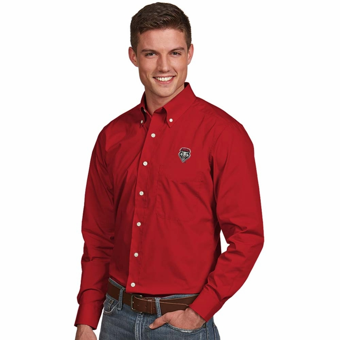 New mexico mens dynasty button down dress shirt color red x large for Mens red button up dress shirt