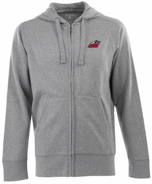 New Mexico Mens Signature Full Zip Hooded Sweatshirt (Color: Silver)