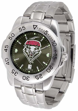 New Mexico Sport Anonized Men's Steel Band Watch