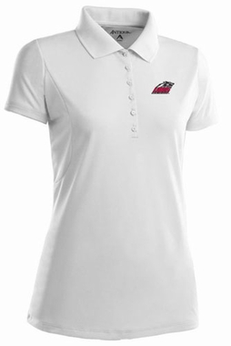 New Mexico Womens Pique Xtra Lite Polo Shirt (Color: White)