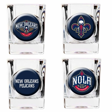 New Orleans Pelicans 4 Piece Assorted Shot Glass Set