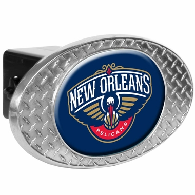 New Orleans Pelicans Metal Diamond Plate Trailer Hitch Cover