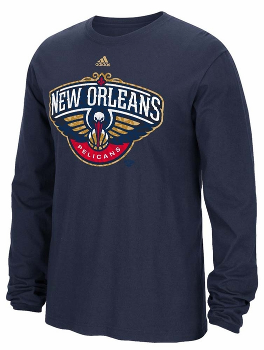 New orleans pelicans adidas cut the net premium print l s for T shirt printing new orleans