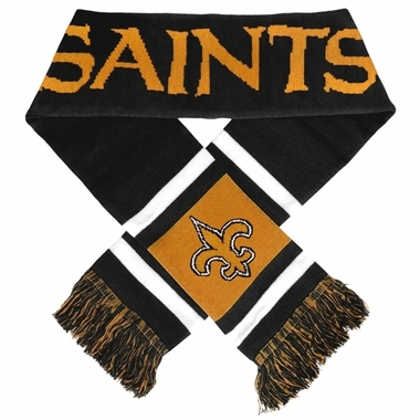 New Orleans Saints 2012 Team Stripe Knit Scarf