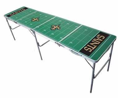 New Orleans Saints 2x8 Tailgate Table
