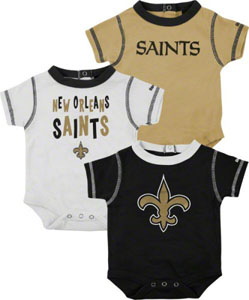 New Orleans Saints 3 Pack Creeper Set - 18 Months