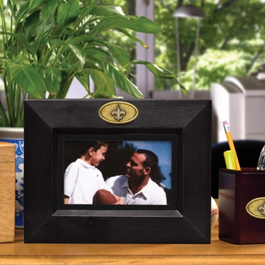 New Orleans Saints BLACK Landscape Picture Frame
