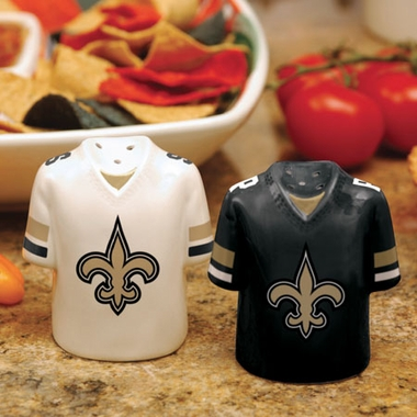 New Orleans Saints Ceramic Jersey Salt and Pepper Shakers