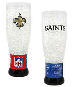 New Orleans Saints Crystal Pilsner Glass