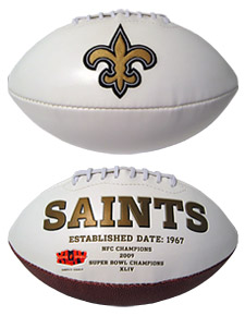 New Orleans Saints Full Size Embroidered Signature Series Football