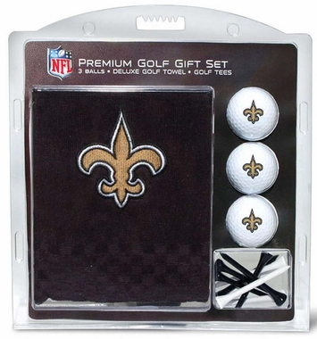 New Orleans Saints Embroidered Towel Golf Gift Set