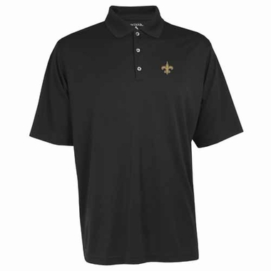 New Orleans Saints Mens Exceed Polo (Color: Black)