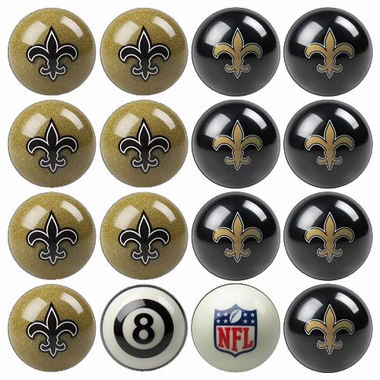 New Orleans Saints Home and Away Complete Billiard Ball Set