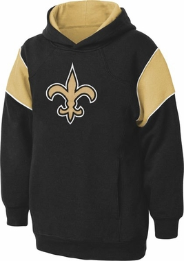 New Orleans Saints NFL YOUTH Color Block Pullover Hooded Sweatshirt