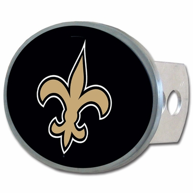 New Orleans Saints Oval Metal Hitch Cover