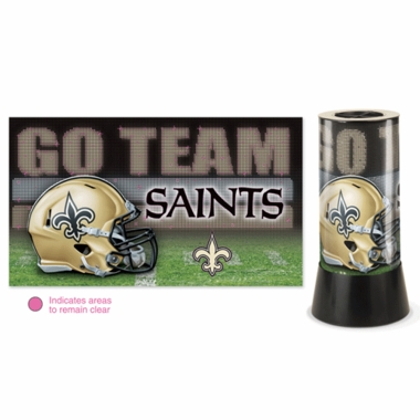 New Orleans Saints Rotating Lamp