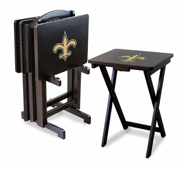 New Orleans Saints Set of 4 Folding TV Trays
