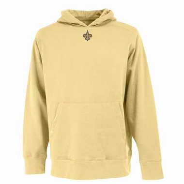 New Orleans Saints Mens Signature Hooded Sweatshirt (Color: Gold)