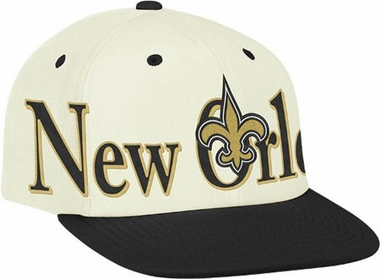 New Orleans Saints Team Name and Logo Snapback Hat