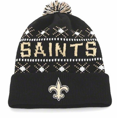 New Orleans Saints Tip Off Cuffed Knit Hat