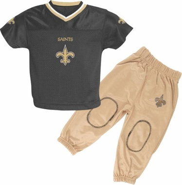 New Orleans Saints Toddler Jersey and Pants Set
