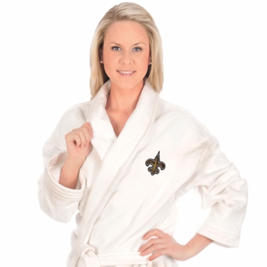 New Orleans Saints UNISEX Bath Robe (White)
