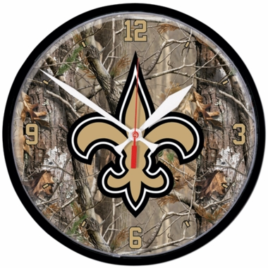 New Orleans Saints Wall Clock (Realtree)