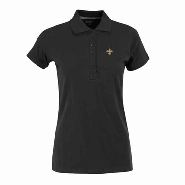 New Orleans Saints Womens Spark Polo (Color: Black)