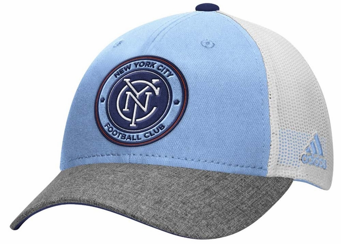 big sale 9802f e3e41 New York City FC Adidas Authentic Team Structured Adjustable Mesh Back Hat