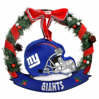 "New York Giants 20"" Helmet Door Wreath"