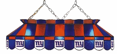 New York Giants 40 Inch Rectangular Stained Glass Billiard Light