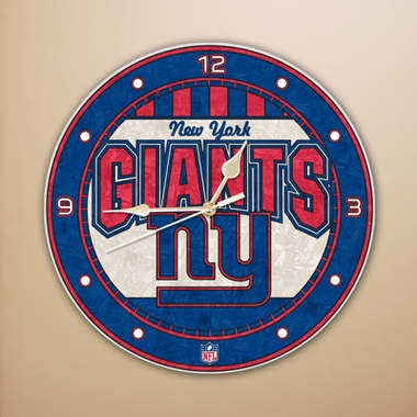 New York Giants Art Glass Clock
