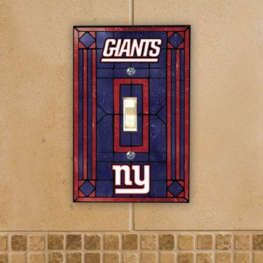 New York Giants Art Glass Lightswitch Cover