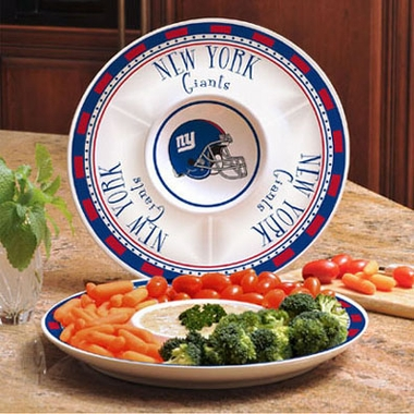 New York Giants Ceramic Chip and Dip Plate