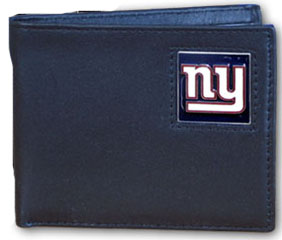 New York Giants Leather Bifold Wallet (F)