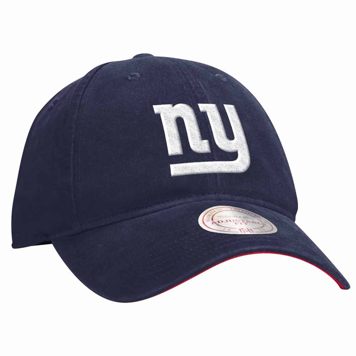 29af53d744a New York Giants Mitchell   Ness Throwback Felt Logo Slouch Adjustable Hat