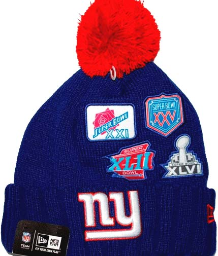 New York Giants New Era NFL Super Bowl Champions Commemorative Knit Hat 948d95b62