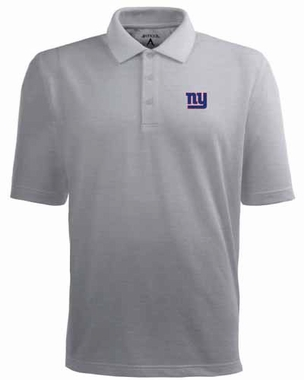 New York Giants Mens Pique Xtra Lite Polo Shirt (Color: Gray)