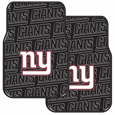 New York Giants Set of Rubber Floor Mats