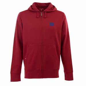 New York Giants Mens Signature Full Zip Hooded Sweatshirt (Color: Red) - X-Large