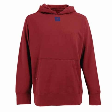New York Giants Mens Signature Hooded Sweatshirt (Color: Red)