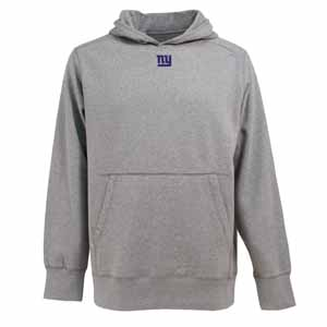 New York Giants Mens Signature Hooded Sweatshirt (Color: Gray) - Medium