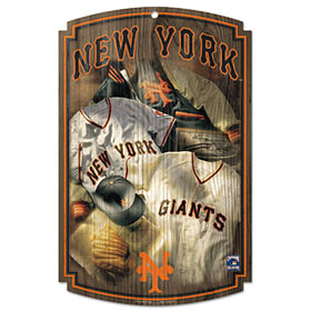 San Francisco Giants Wood Sign w/ Throwback Jersey