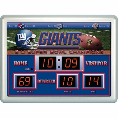 New York Giants Time / Date / Temp. Scoreboard